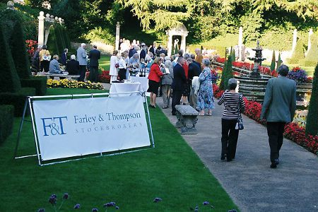 Guests were received in the delightful Italian Garden by the partners and members of the team